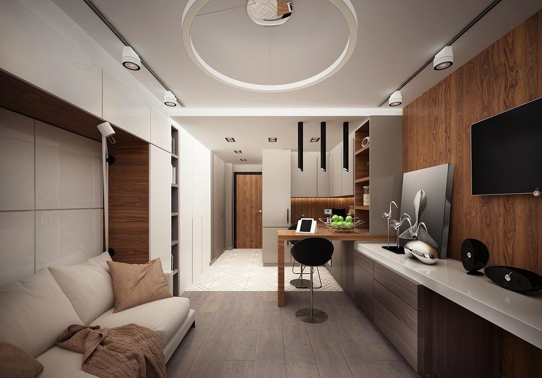 Стиль кухни-гостиной 26 метров