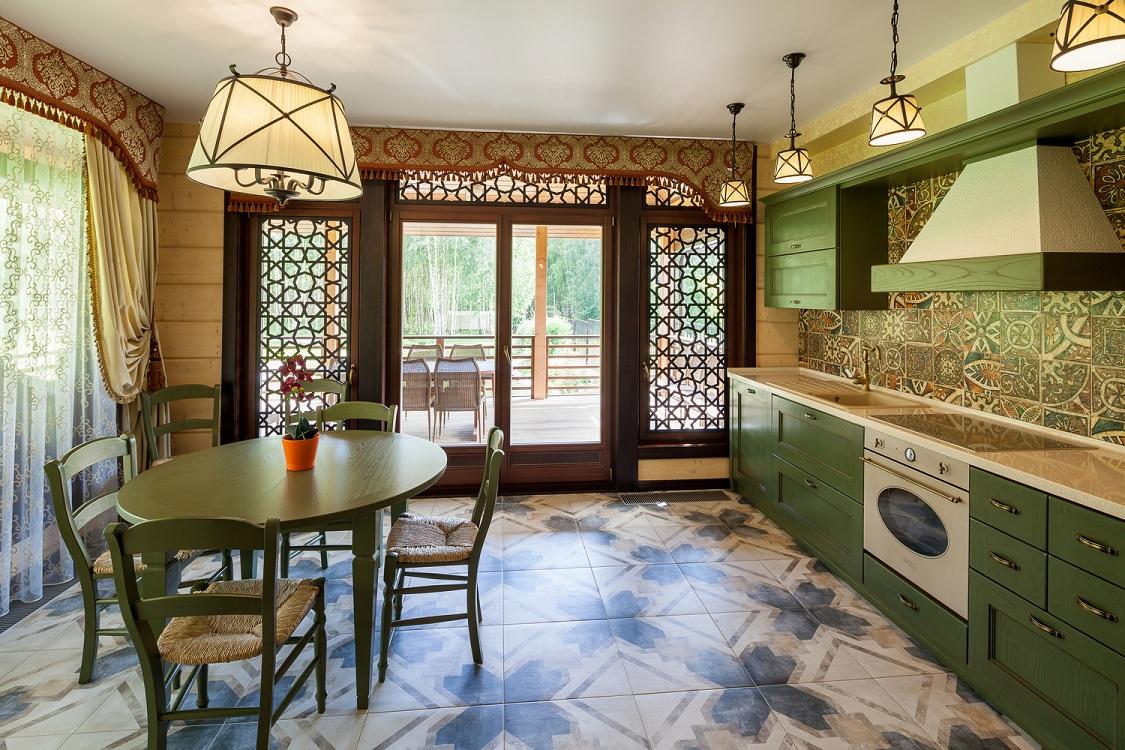Цветовая гамма при оформлении кухни в восточном стиле