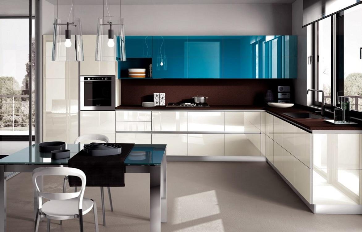 Цветовая гамма в оформлении кухни в стиле модерн