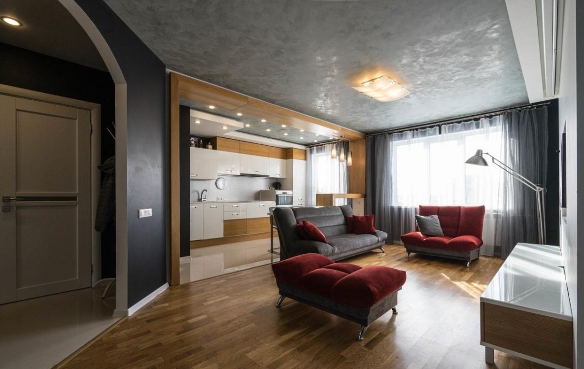 Цветовая палитра при оформлении кухни-гостиной 30 кв.м