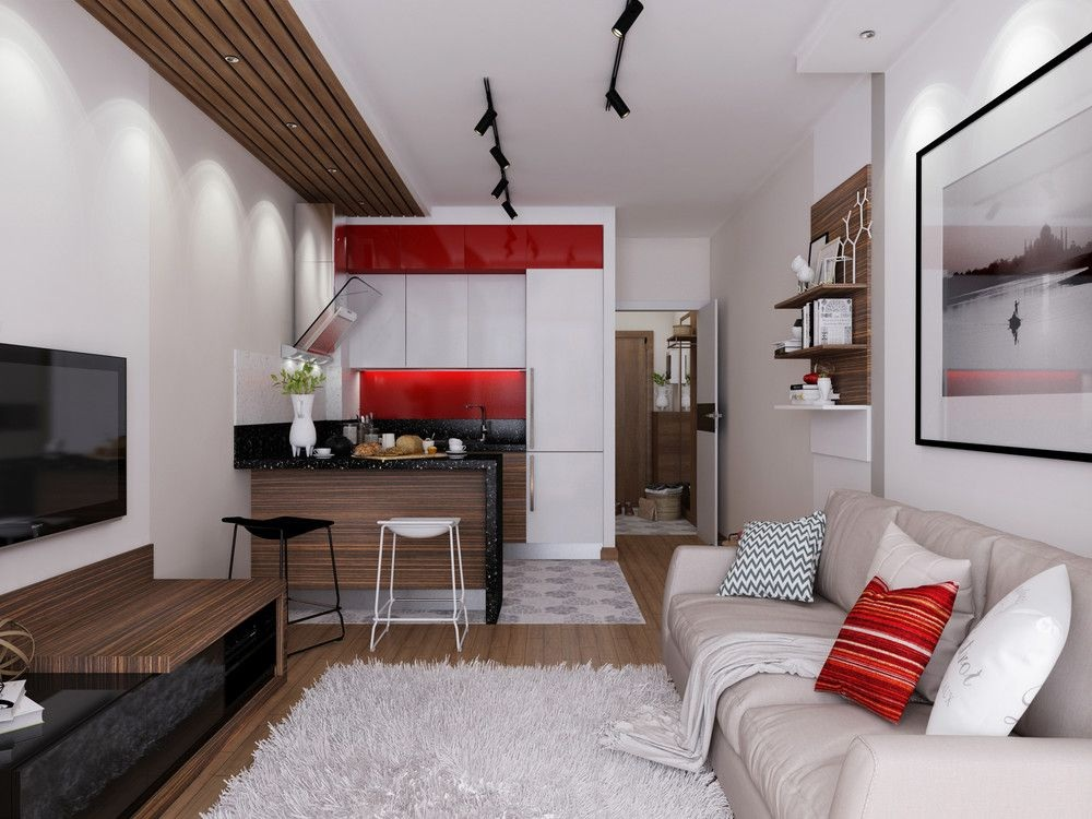 Цветовые решения при оформлении кухни-гостиной 19 м