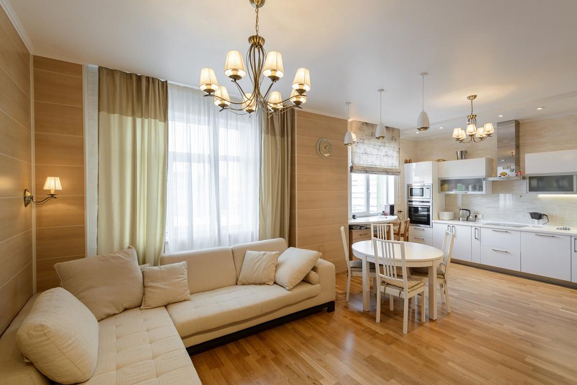 Варианты планировки кухни-гостиной 27 м