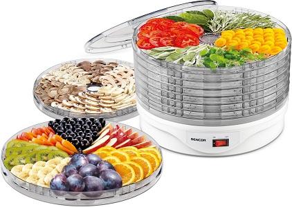 Вместимость сушилки для фруктов и овощей