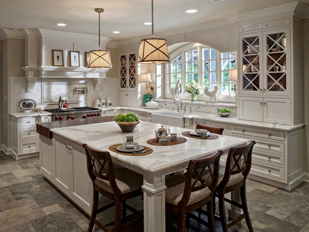Декор на кухне в американском стиле