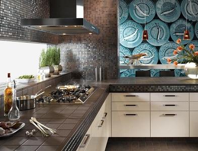 Кухонный фартук из плитки — все нюансы выбора