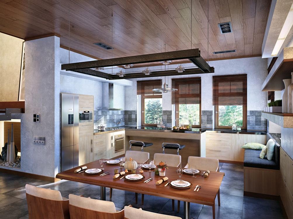 Как отобразить Америку в оформлении кухни: идеи, зонирование и фото в интерьере
