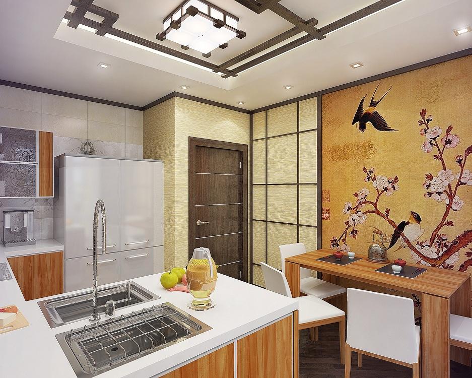 Как задекорировать кухню в японском стиле