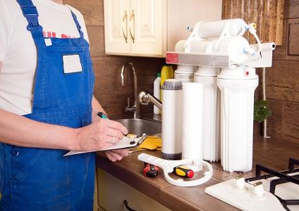 Обслуживание фильтра для воды