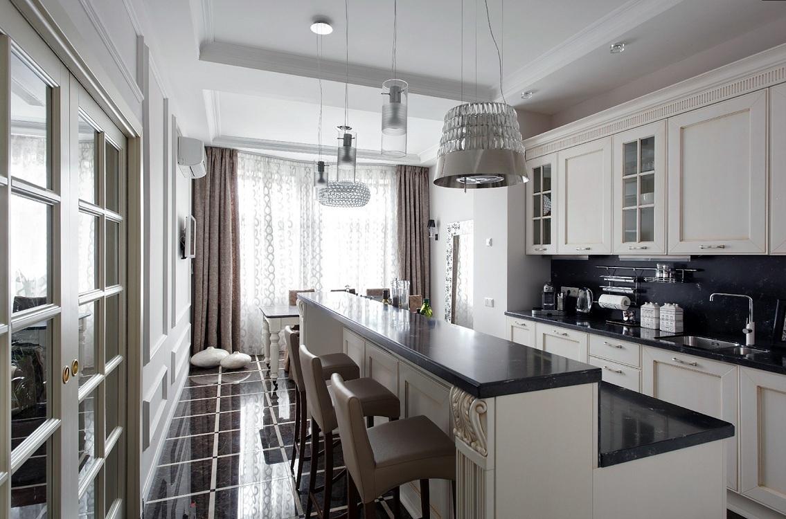 Полы на кухне в стиле неоклассика