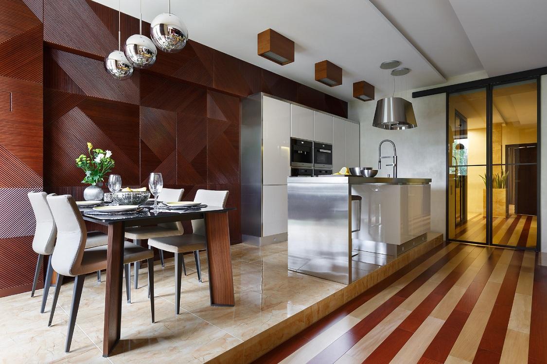 Потолок на кухне в стиле контемпорари