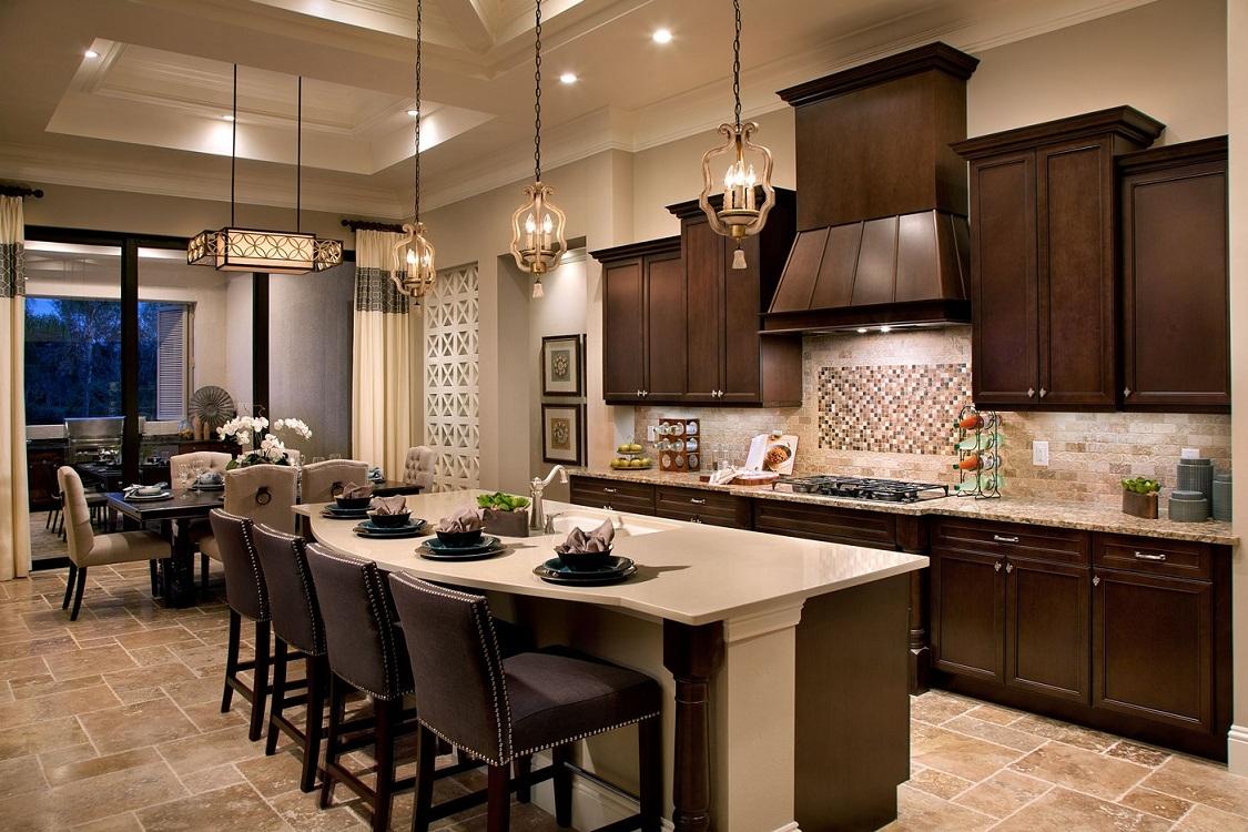 Стены на кухне в американском стиле