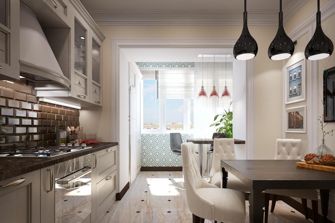 Цветовая палитра на кухне в стиле неоклассика