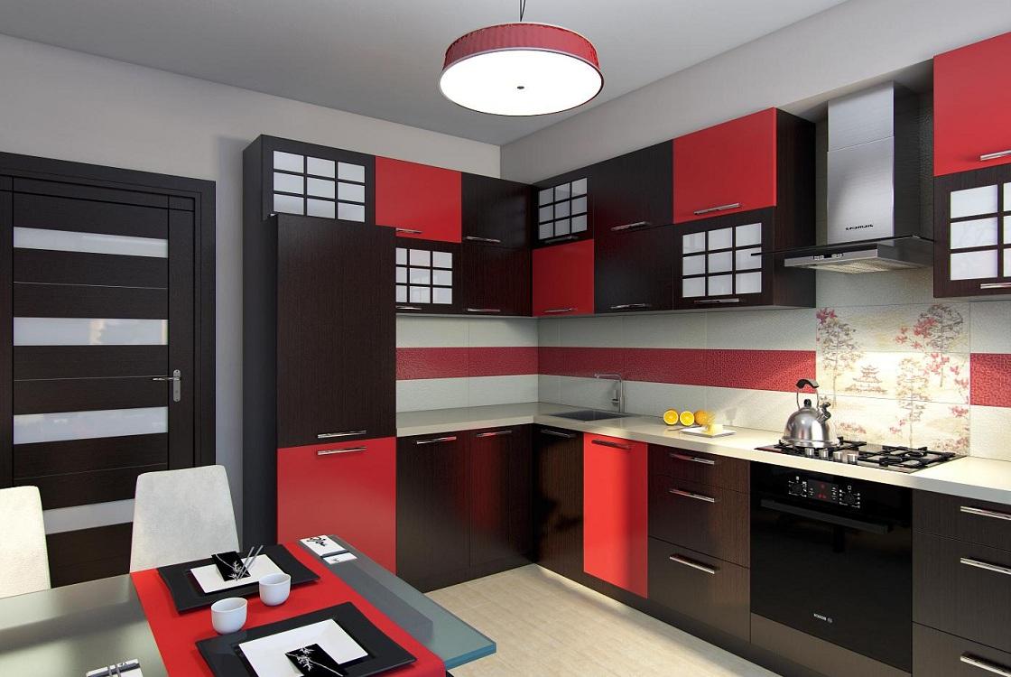 Цветовая палитра при оформлении кухни в японском стиле