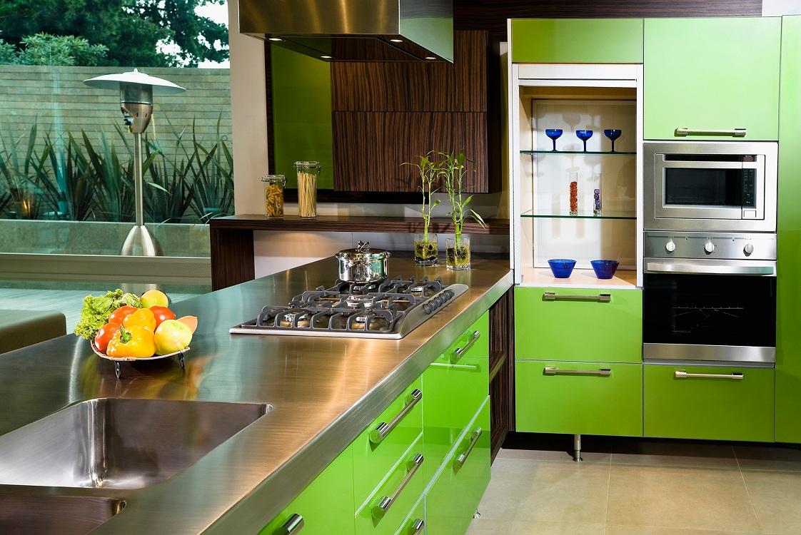 Цветовые варианты оформления кухни в стиле контемпорари