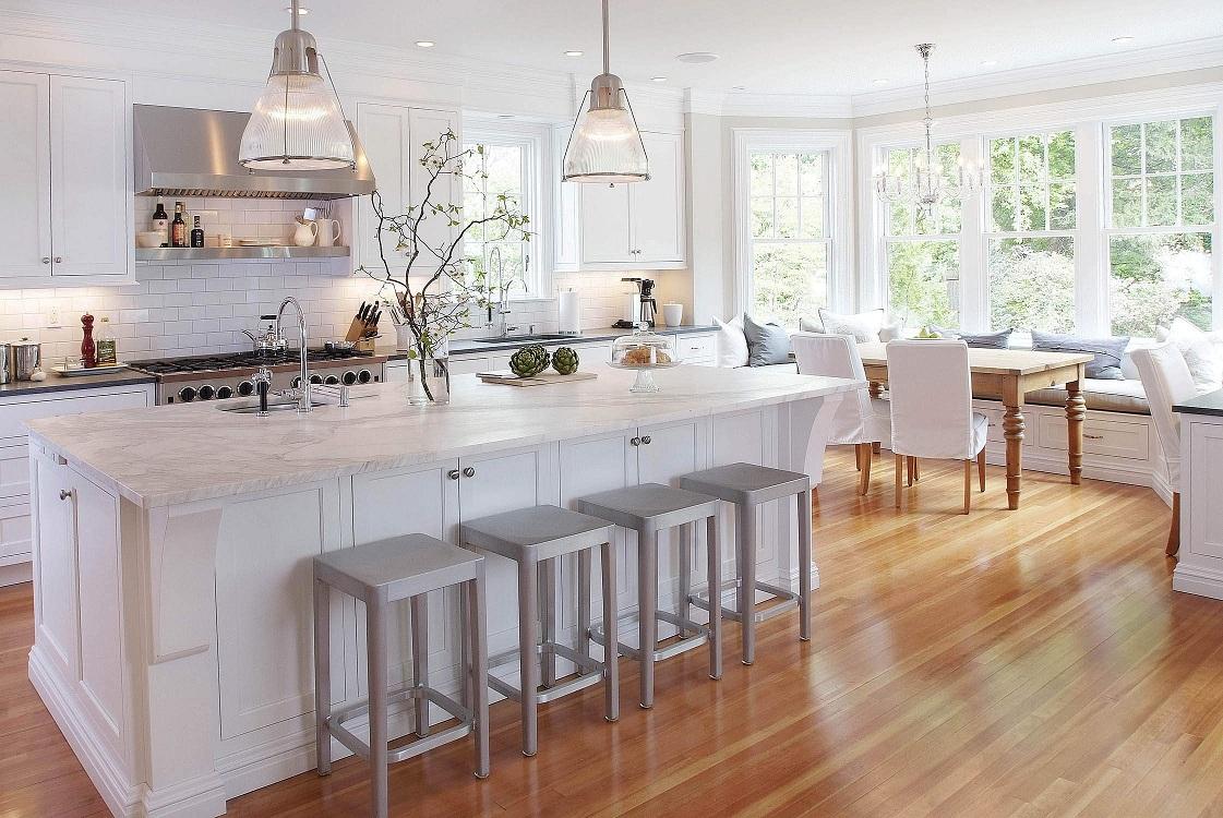 Выбор цвета для оформления кухни в американском стиле
