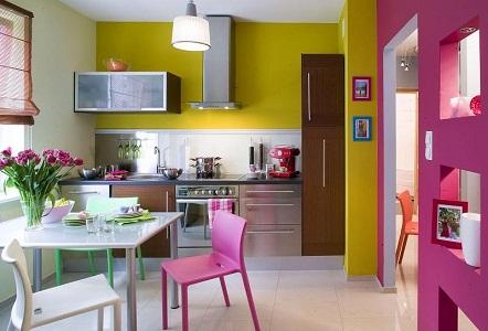 Дизайнерские советы по окрашиванию стен на кухне