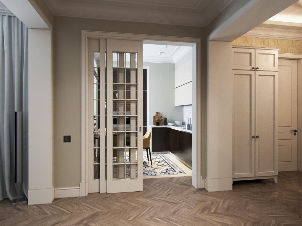 Дверь складная для кухни