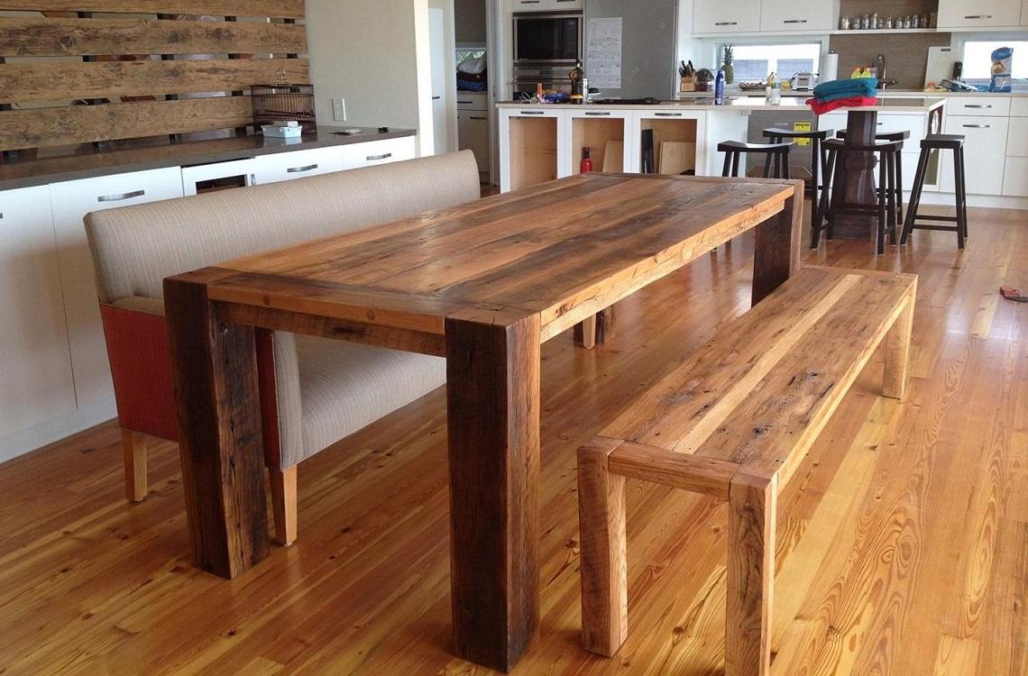 Критерии выбора деревянного стола для кухни