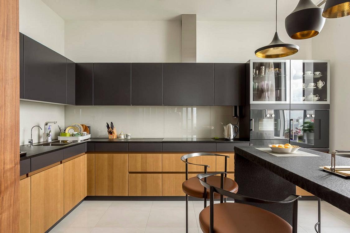 Матовые фасады кухонного гарнитура