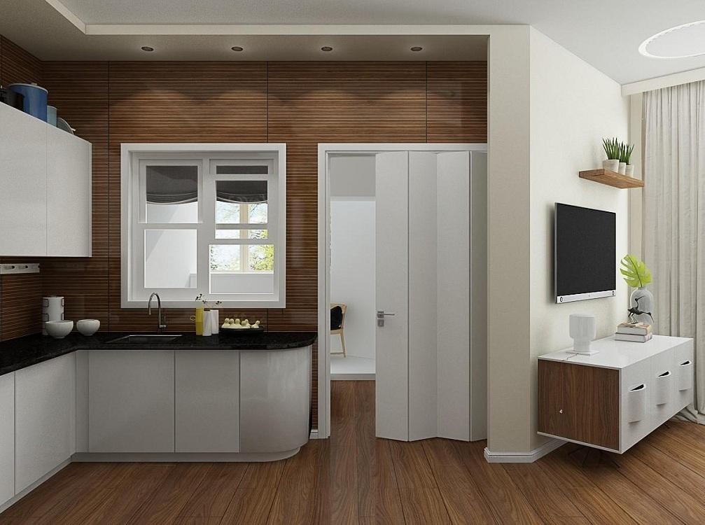 Пластиковая дверь для кухни