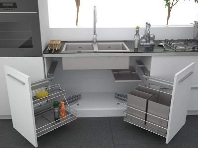 Прямой шкаф под кухонную мойку