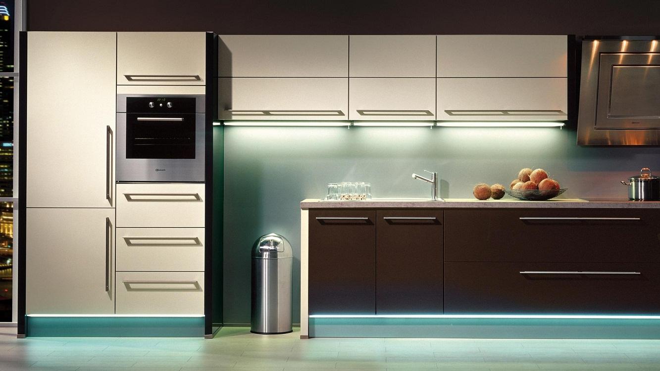 Размеры навесных шкафов на кухне