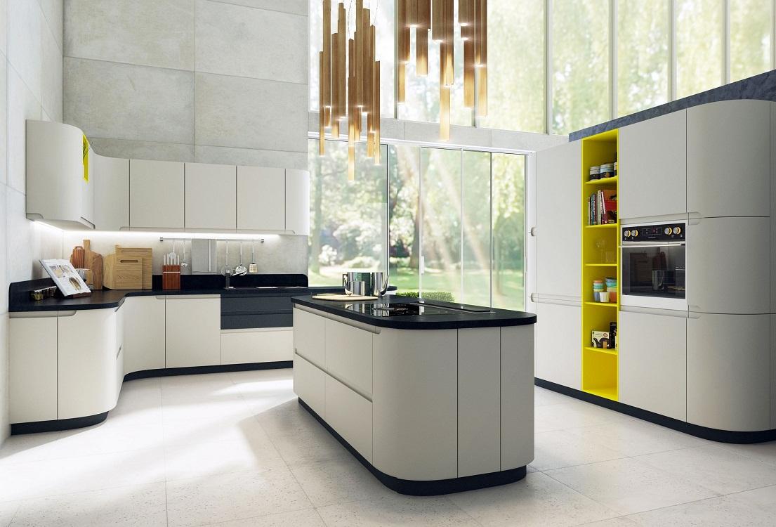 Цветовая палитра матовых кухонь