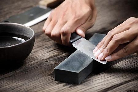 Технология заточки ножа на бруске