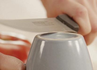 Заточка ножа с помощью керамики