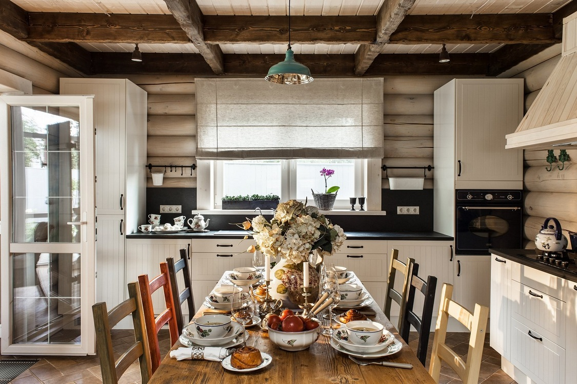 Декор кухни на даче