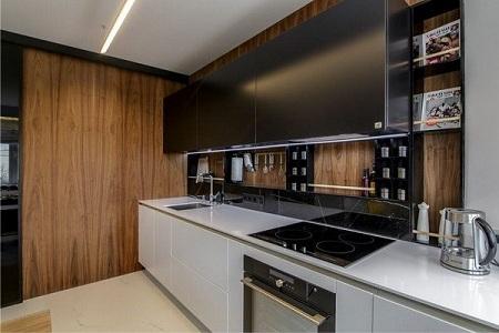 Фальш-панель из МДФ на кухне
