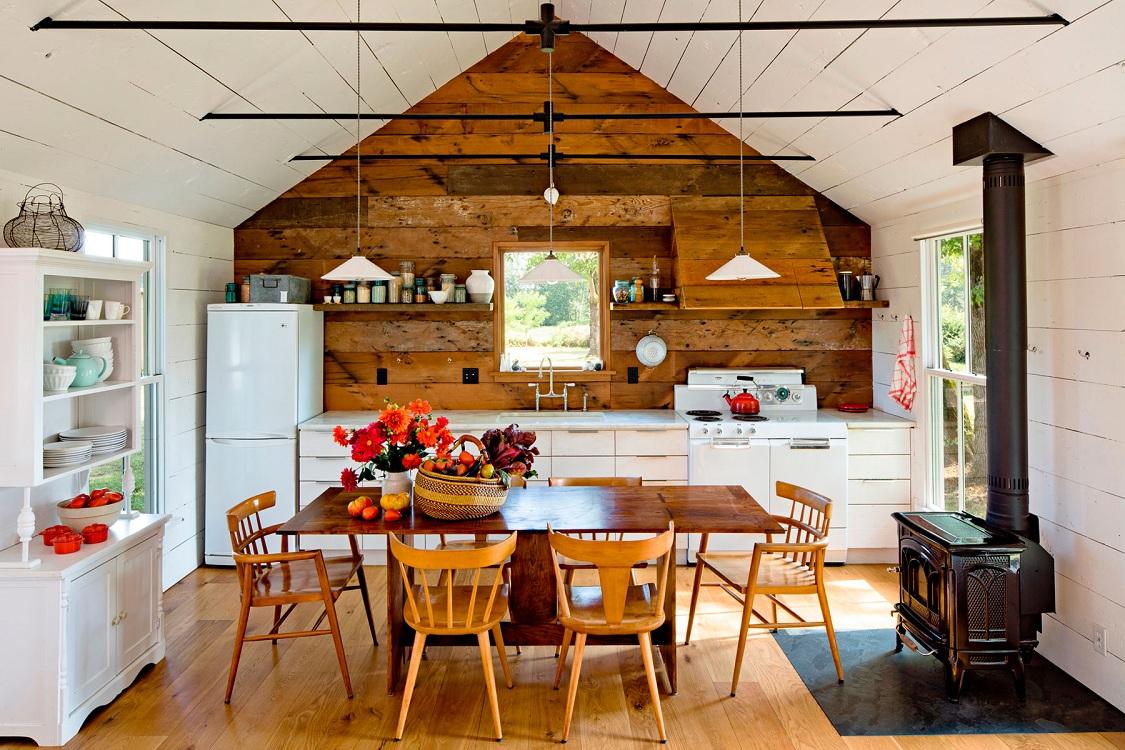 Кухонная печь на даче