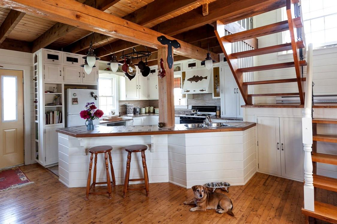 Места для хранения на дачной кухне